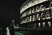 Italian Prints - Coliseum at Night Print by Peter Viteritti