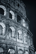 Joan Photo Posters - Coliseum Before Dawn Poster by Joan Carroll