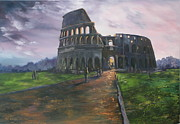 Jean Walker Framed Prints - Coliseum Rome Framed Print by Jean Walker