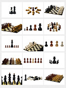 Chessboard Prints - Collage Chess Stories 1 - Featured 3 Print by Alexander Senin