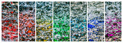 Tiled Prints - Collage Liquid Rainbow 1 - Featured 3 Print by Alexander Senin