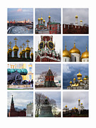 Collage Moscow Kremlin 1 - Featured 3 Print by Alexander Senin