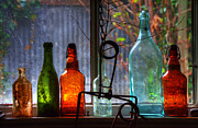 Glass Bottles Prints - Collecting Memories Print by Bob Christopher