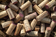 California Vineyard Photo Prints - Collection of Fine Wine Corks Print by Adam Romanowicz