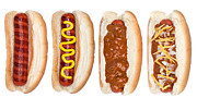 Shredded Prints - Collection of hotdogs Print by Joe Belanger