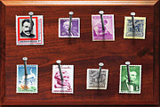 Plaque Prints - Collector - Stamp Collector - My stamp Collection Print by Mike Savad