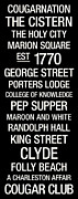 Club Posters - College of Charleston College Town Wall Art Poster by Replay Photos
