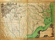 North Sea Paintings - Collet s Survey of North Carolina 1770 by MotionAge Art and Design - Ahmet Asar