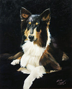 Collie Painting Framed Prints - Collie Framed Print by Alice Leggett