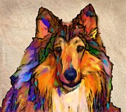 Collie Digital Art Metal Prints - Collie Metal Print by Marlene Watson