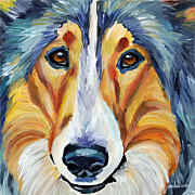 Collie Print by Melissa Smith