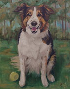Collie Painting Framed Prints - Collie Framed Print by Robin Wellner