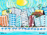 Collins Avenue Prints - Collins Ave Miami Beach Print by Susana Varela Guillot