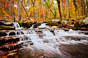 Heber Springs Prints - Collins Creek Waterfall I Print by Noel Pennington
