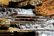 Heber Springs Prints - Collins Creek Waterfall II Print by Noel Pennington