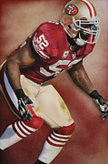 49ers Painting Prints - Collision Course Print by Rob Jackson