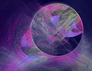 Abstract Other Worlds Digital Art - Collision by Victoria Harrington