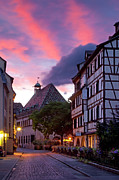 Alsatian Framed Prints - Colmar Twilight Framed Print by Brian Jannsen