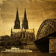 Photo Images Mixed Media - Cologne Cathedral by Gabi Siebenhuehner