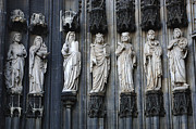 Religious Statues Prints - Cologne Cathedral Statuary Print by Bob Christopher