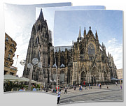 Cologne Germany - High Cathedral Of St. Peter - 03 Print by Gregory Dyer