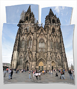 Cologne Germany - High Cathedral Of St. Peter - 04 Print by Gregory Dyer
