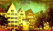 Photo Images Mixed Media - Cologne Town by Gabi Siebenhuehner
