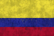 Flag Prints - Colombia Flag Print by World Art Prints And Designs