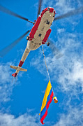 Helicopters Framed Prints - Colombia Helicopter Framed Print by Jess Kraft