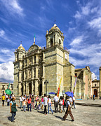 Colonial Scene Prints - Colonial Cathedral in Oaxaca Print by Mark E Tisdale