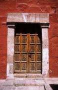 Arequipa Prints - Colonial door Print by James Brunker