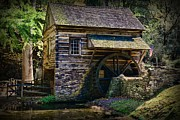 Cabin Wall Photo Framed Prints - Colonial Grist Mill Framed Print by Paul Ward