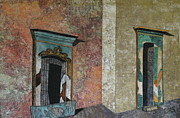 Stucco Tapestries - Textiles Metal Prints - Colonial Mexico Metal Print by Lynda K Boardman