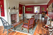 Historic Home Photo Metal Prints - Colonial Parlor Metal Print by Olivier Le Queinec