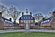 Williamsburg Prints - Colonial Williamsburg Governors Place Print by  Gene  Bleile Photography