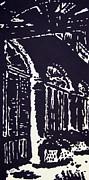 Colonnial Interior Print by Oscar Penalber