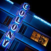 Neon Photos - Colony Hotel I by David Bowman