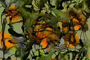 Abstracted Mixed Media Prints - Color Abstraction XVII Print by Dave Gordon
