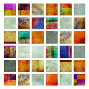 Color Block Collage Abstract Art Print by Ann Powell