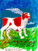 Spaniels Paintings - Color Britt by Samuel Zylstra
