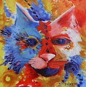 Chat Posters - Color Cat Poster by Deb Harvey