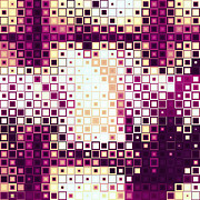 Fushia Digital Art - Color Cubed by Shawna  Rowe