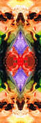 Visionary Artist Painting Prints - Color Echo - Pattern Art By Sharon Cummings Print by Sharon Cummings