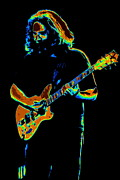 Jerry Garcia Band Prints - Color Filled Garcia 1978 Print by Ben Upham