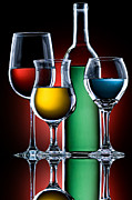 Vintage Red Wine Originals - Color Glass by Brian Enright