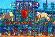 American League Painting Posters - Color in Comerica Poster by John Farr