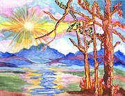 Sun Rays Paintings - Color In The Country by Connie Valasco