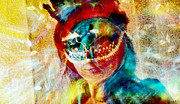 Self-portrait Photos - Color Mask by Linda Sannuti