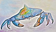 Louisiana Seafood Art - Color me Blue . . . And Speckled Too by Eloise Schneider