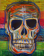Skull Paintings - Color My Soul by Laura Barbosa